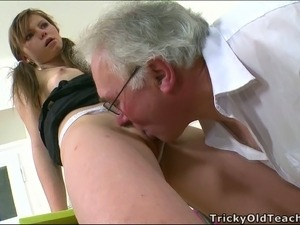 young girl sucks teachers dick