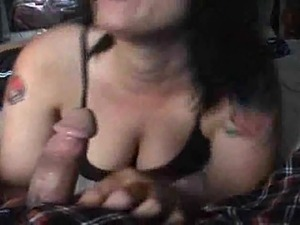 Girl swallows loads of cum