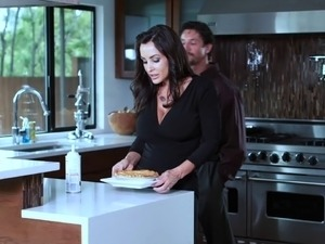 Big titted milf rachel steele fucks in the kitchen