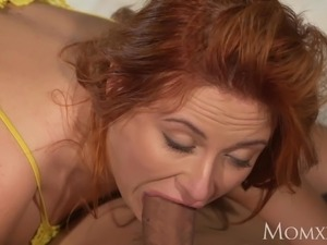 MOM Sexy Russian redhead nymphomaniac love to deepthroat