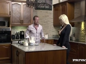 sex in kitchen on video