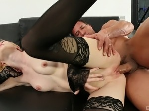 Blonde deep throated after getting roughly smashed banged doggystyle