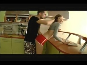 sexy kitchen anal