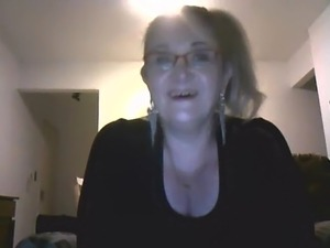 mature teacher on webcam