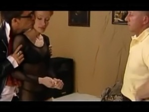 pigtail girl oral on knees