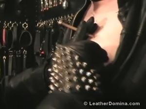 sexy girl trapped in bondage devices