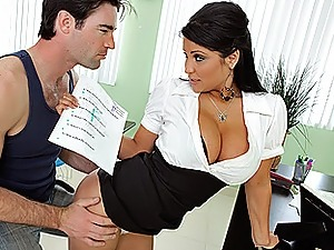 sexy teacher gives handjob