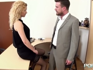 girl forced to fuck her boss