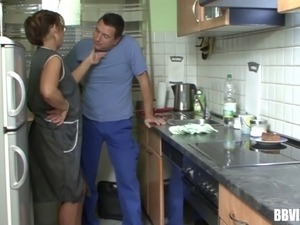 sexy teen fuck in kitchen