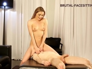 Olivia once again allows her submissive slave to do the pussy licking