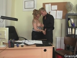 Busty office girl