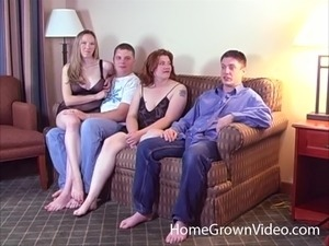 Wife group sex video