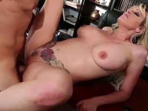 horny girl with big tits masturbating