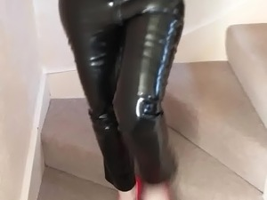 MRS Redwinelovers192 in a Latex Catsuit