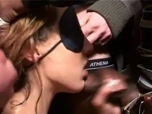 blonde wife gangbang