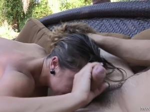 outdoor anal cum ass