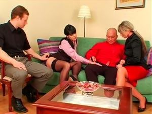 clothed handjob video
