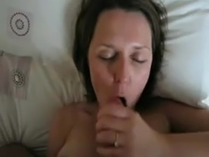 blonde swallows black cum