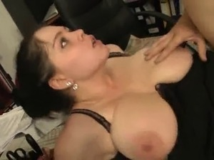 Big tits in work