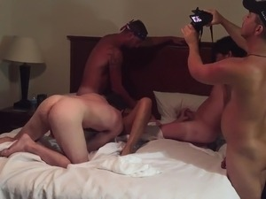 blonde black gangbanged