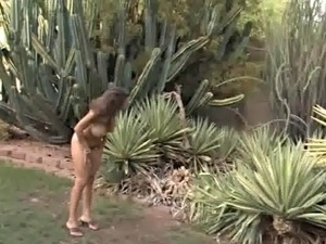 Girl naked outside