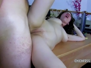 Busty MILF Sabrina Deep takes a stiff cock in her butt