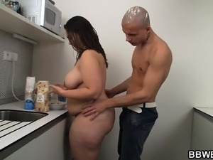 wife caught naked in kitchen