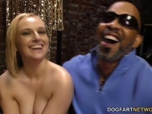 Interracial Anal Gangbang with BBC Slut Kate England