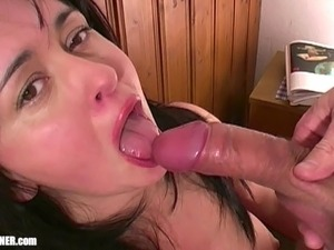 girlfriend gives boy a blowjob