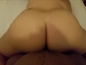 white wife rides black dick