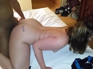 Big ass white woman getting bbc and moaning