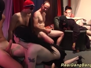 gangbang slut wives roug sex