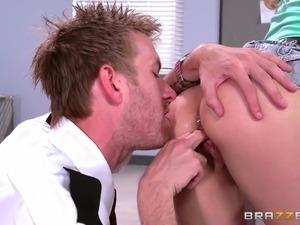 sexy black girl sex in office