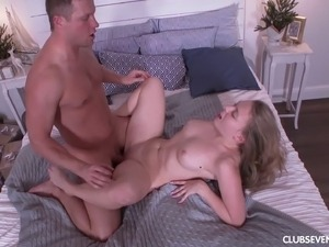 Milf with natural boobs working out then getting ravished hardcore