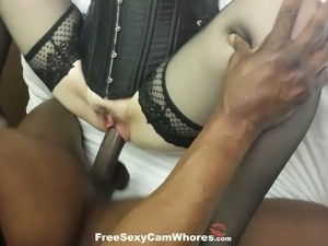 huge black guy and a blonde