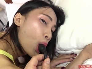 asian ladyboy fucking black cock
