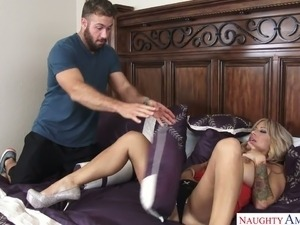 wife forces husband to fuck whore