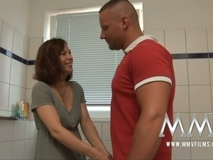 bathroom handjob movies
