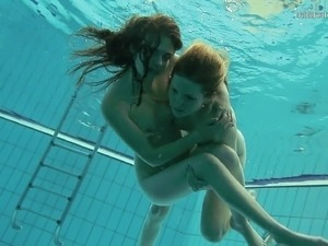 girls flashing underwater for money