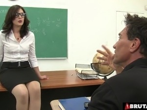 blonde busty teacher sexual