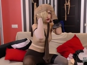fingering pussy pantyhose