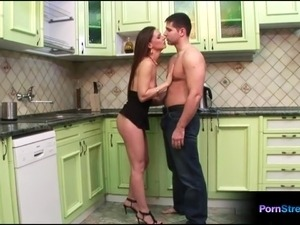 kitchen sex video