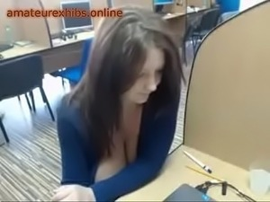 female public flashing in library vids