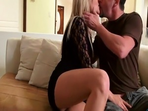 Firm tits blonde girlfriends love to fuck when they are home
