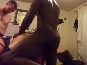 Black threesome porn