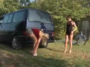 girl fuck car stick shift video