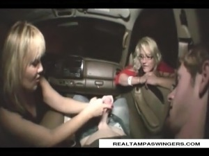 black girl blow job in car