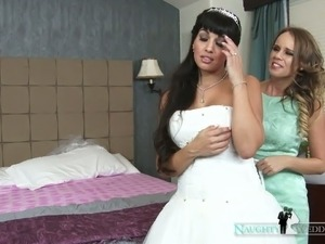 bride getting dressed pictures caught naked