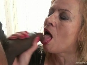 my wife eating black cum