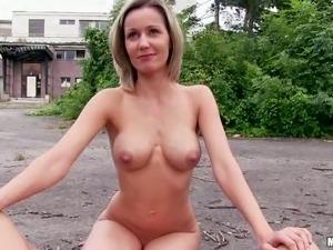 petite wife peeing in public